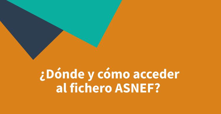 ¿Dónde y cómo acceder al fichero ASNEF?