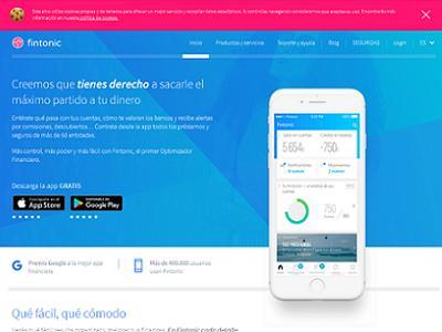 Controla tus finanzas con la app Fintonic