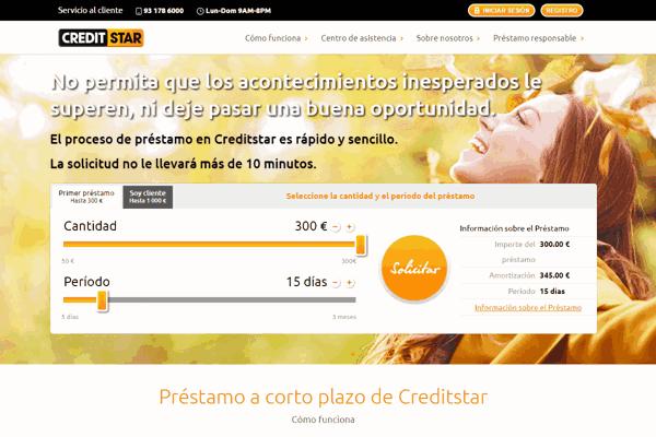 CreditStar préstamos sitio web
