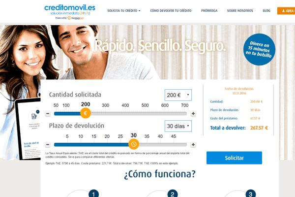 Creditomovil préstamo sitio web