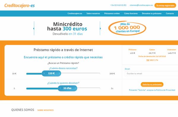 CreditoCajero sitio web