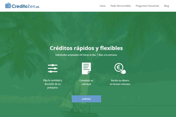 CreditoZen créditos sitio web