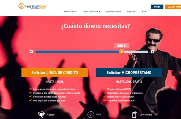 Ferratum préstamos sitio web