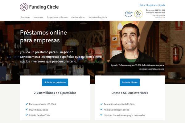 Funding Circle préstamos sitio web