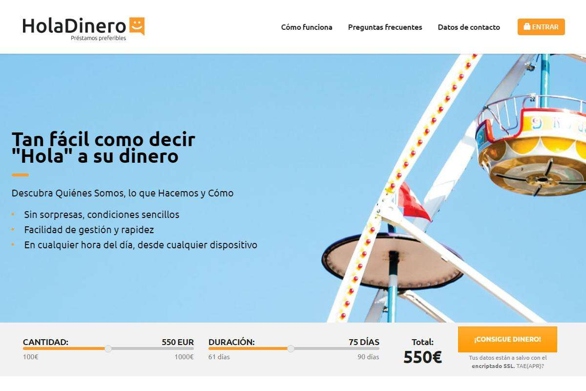 HolaDinero créditos sitio web