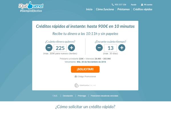 QuéBueno créditos sitio web