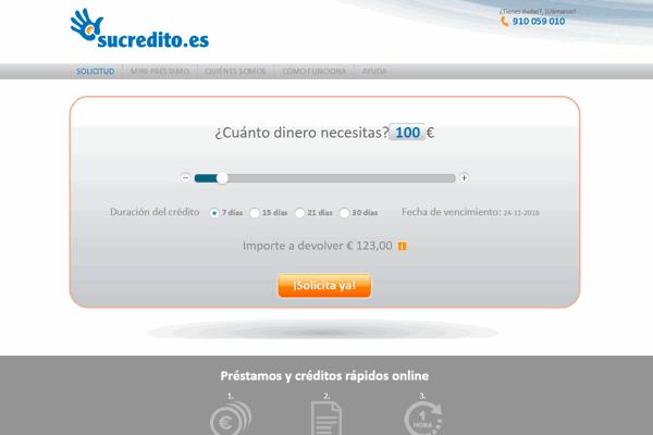 SuCredito préstamos sitio web