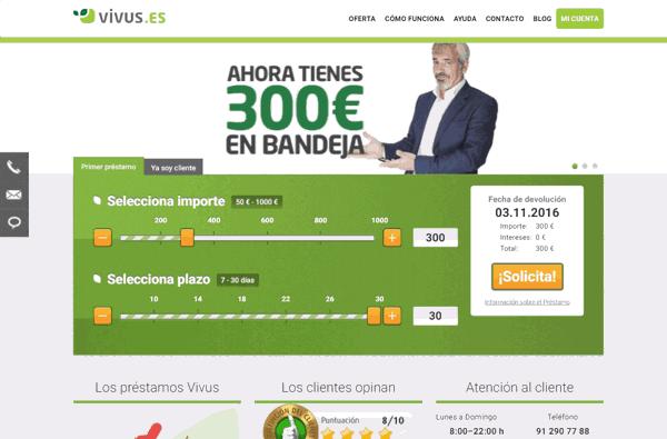 Vivus créditos sitio web