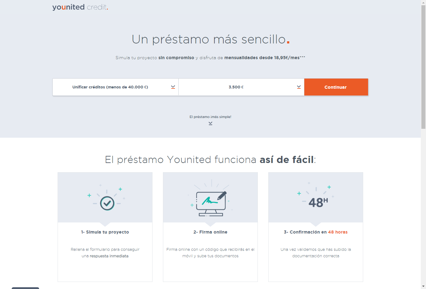 Younited Credit sitio web
